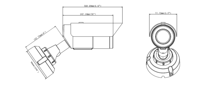 GV-EBL2111 dimensions