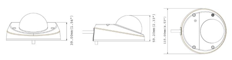GV-MDR3400 dimensions