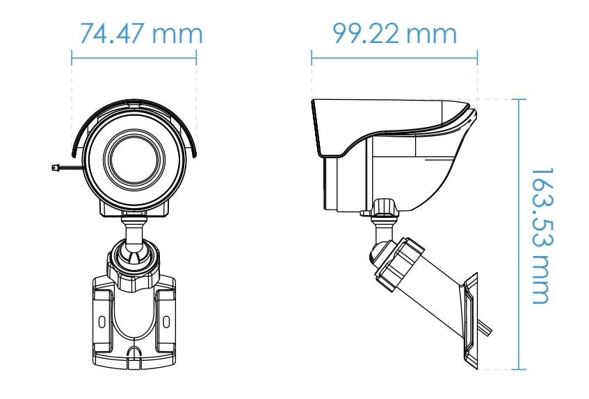 IB8360 dimensions