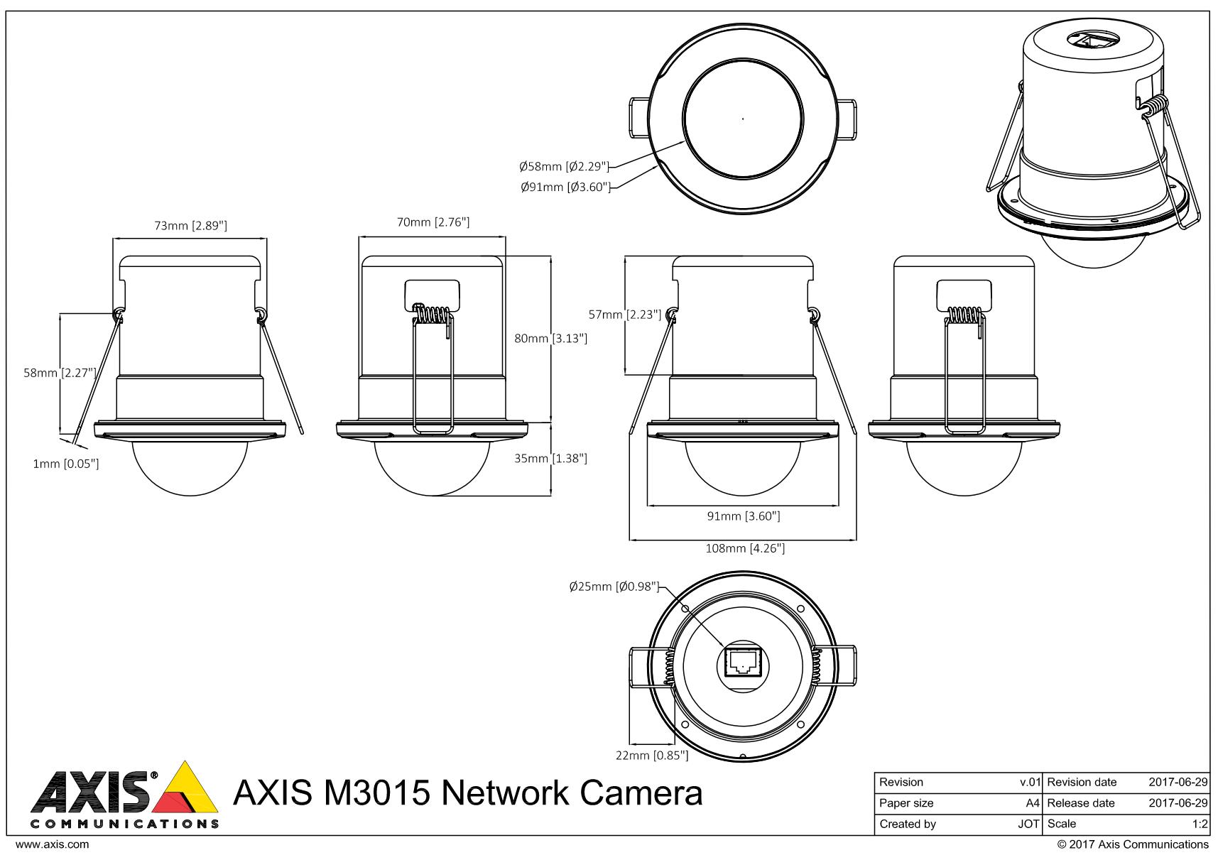 M3015 Dimensions