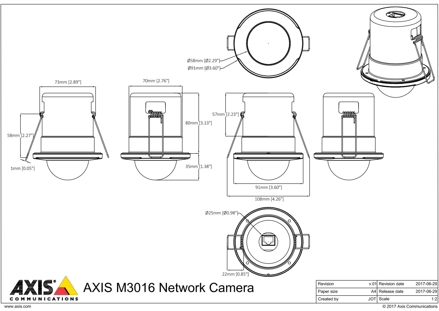 M3016 Dimensions