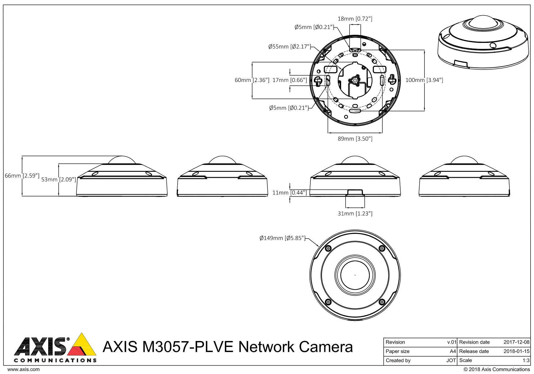 M3057-PLVE Dimensions