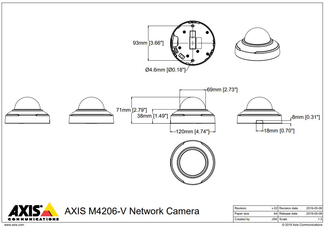 M4206-V Dimensions