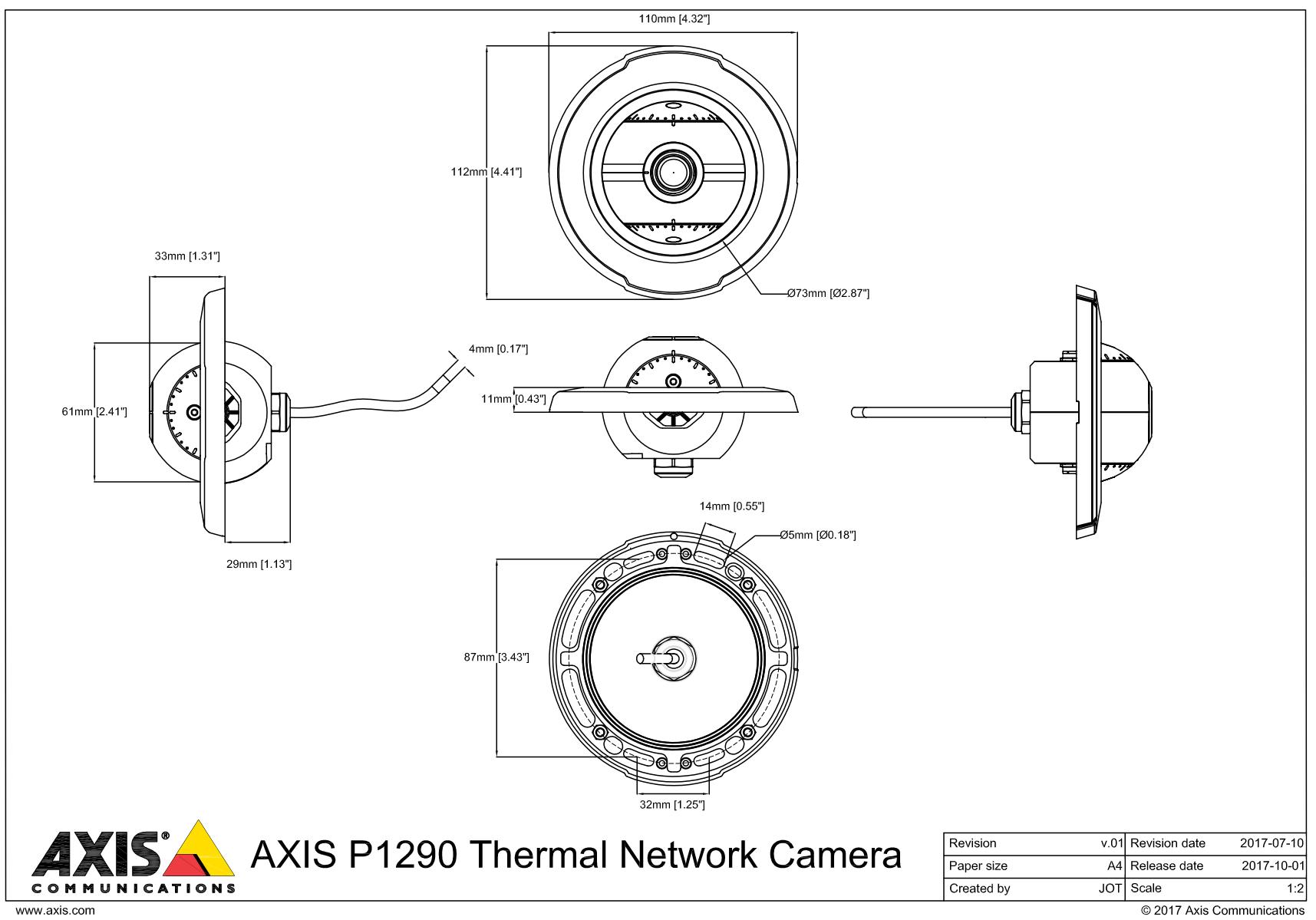 P1290 Dimensions