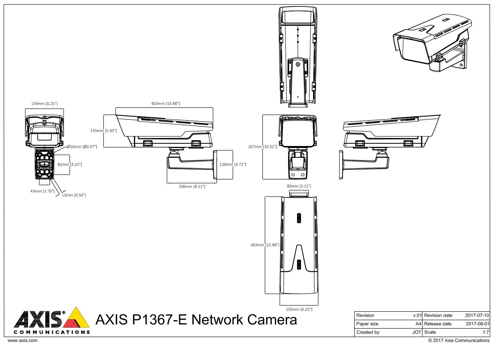 P1367-E Dimensions