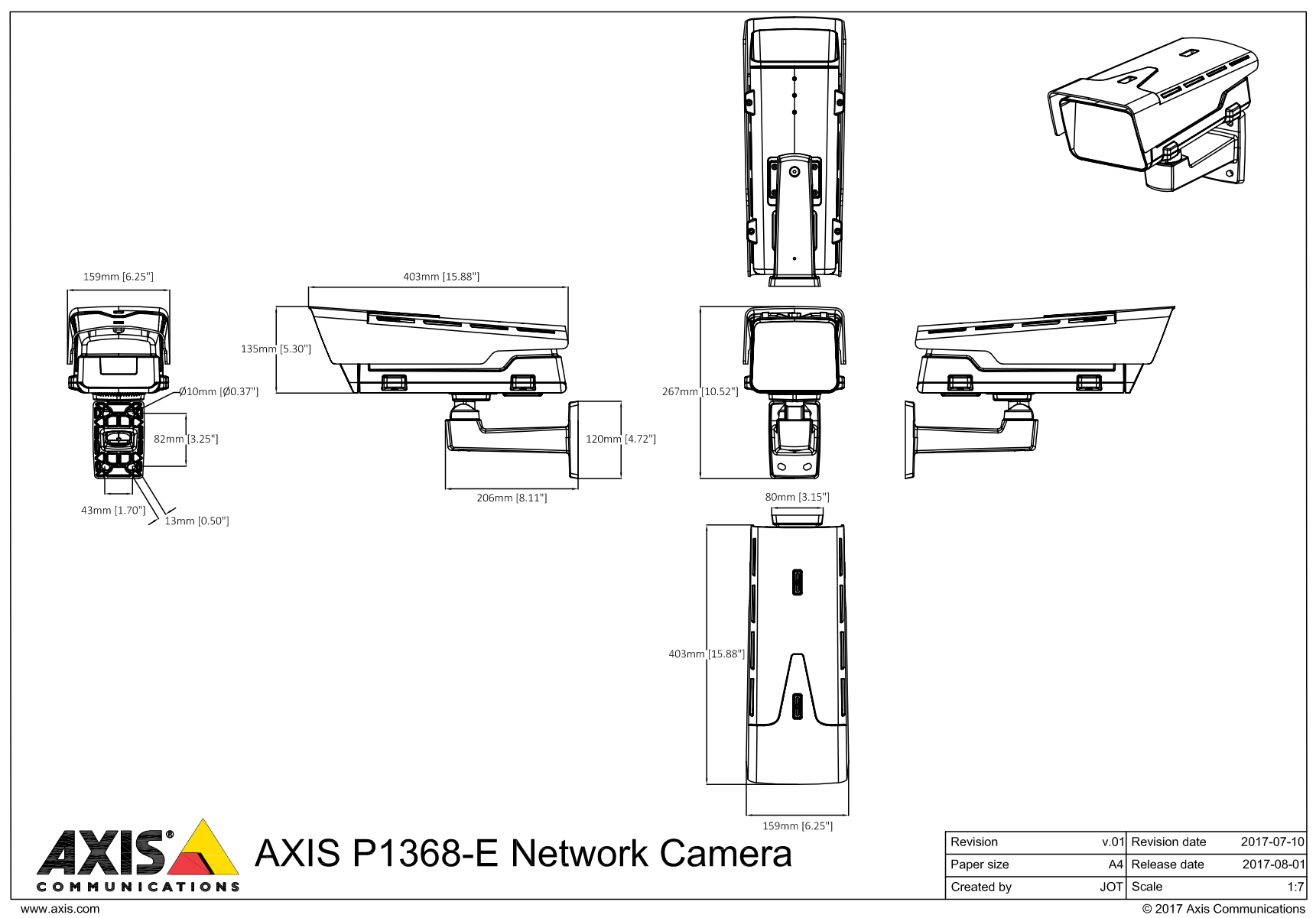 P1368-E Dimensions