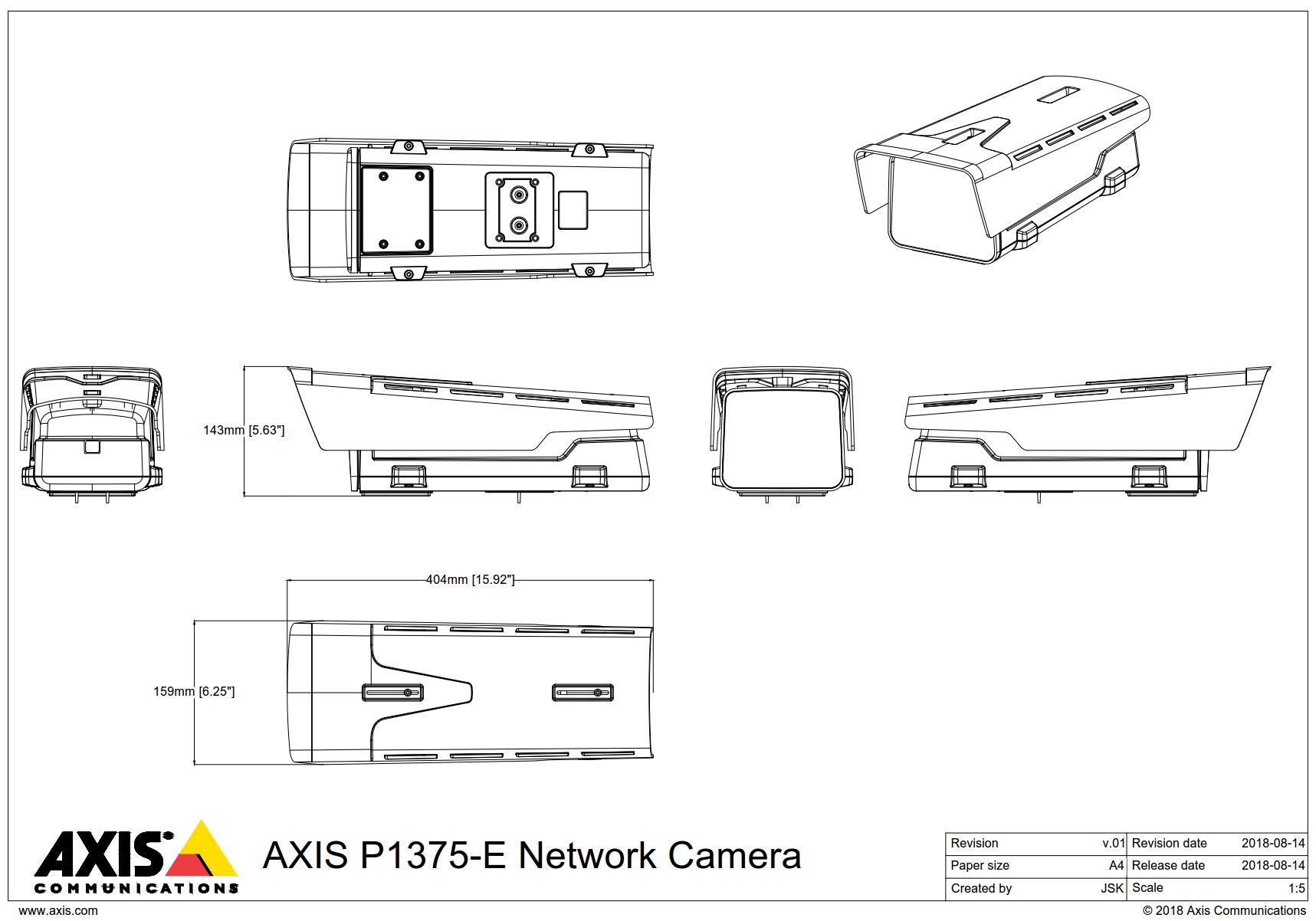 P1375-E Dimensions
