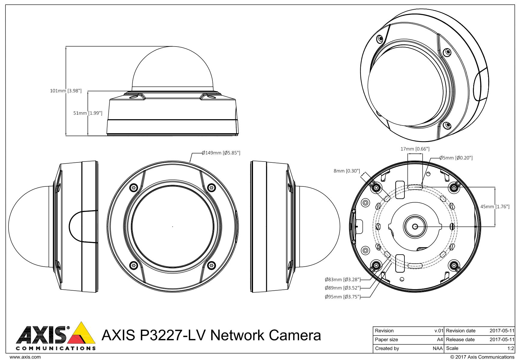 P3227-LV Dimensions