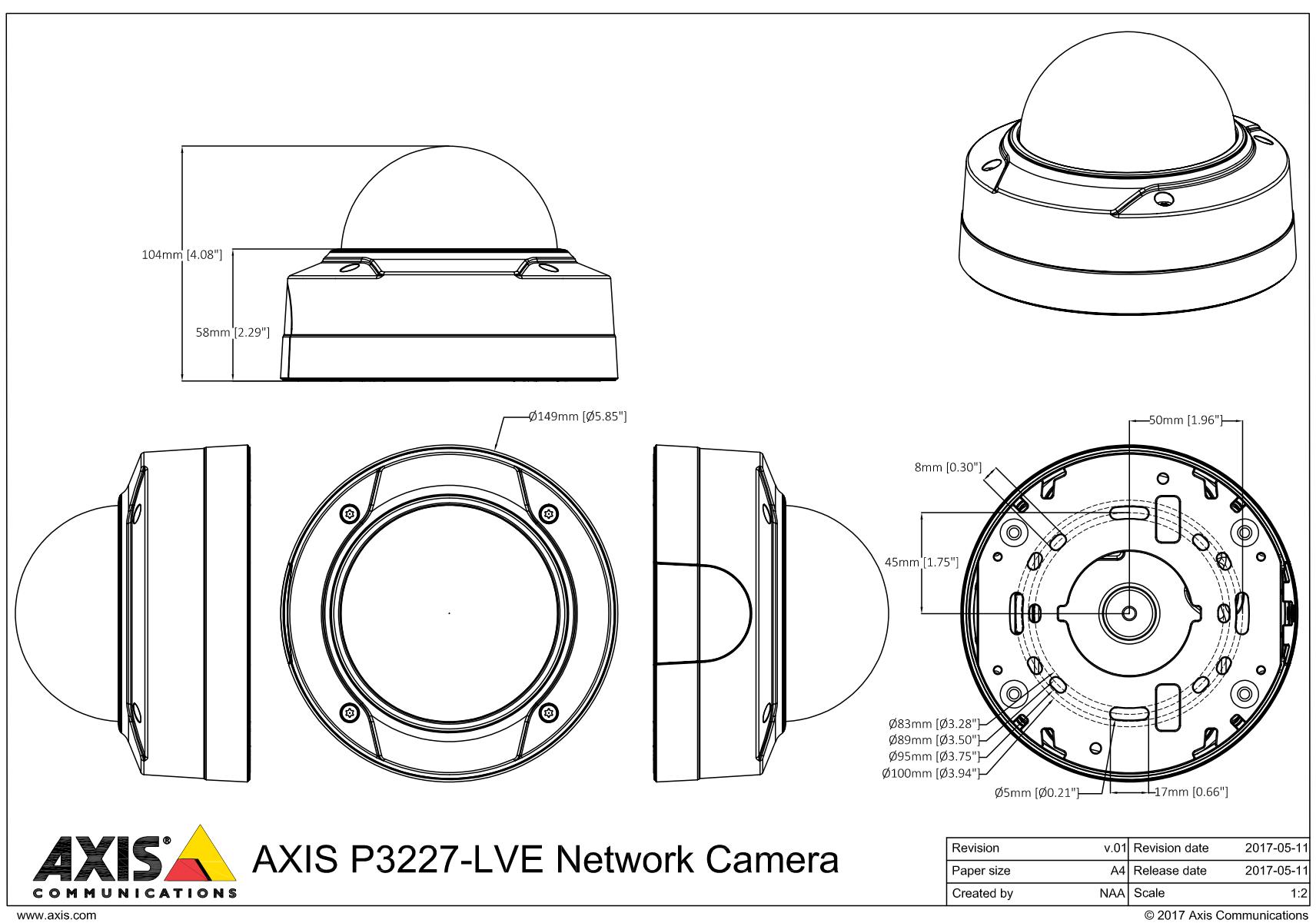 P3227-LVE Dimensions