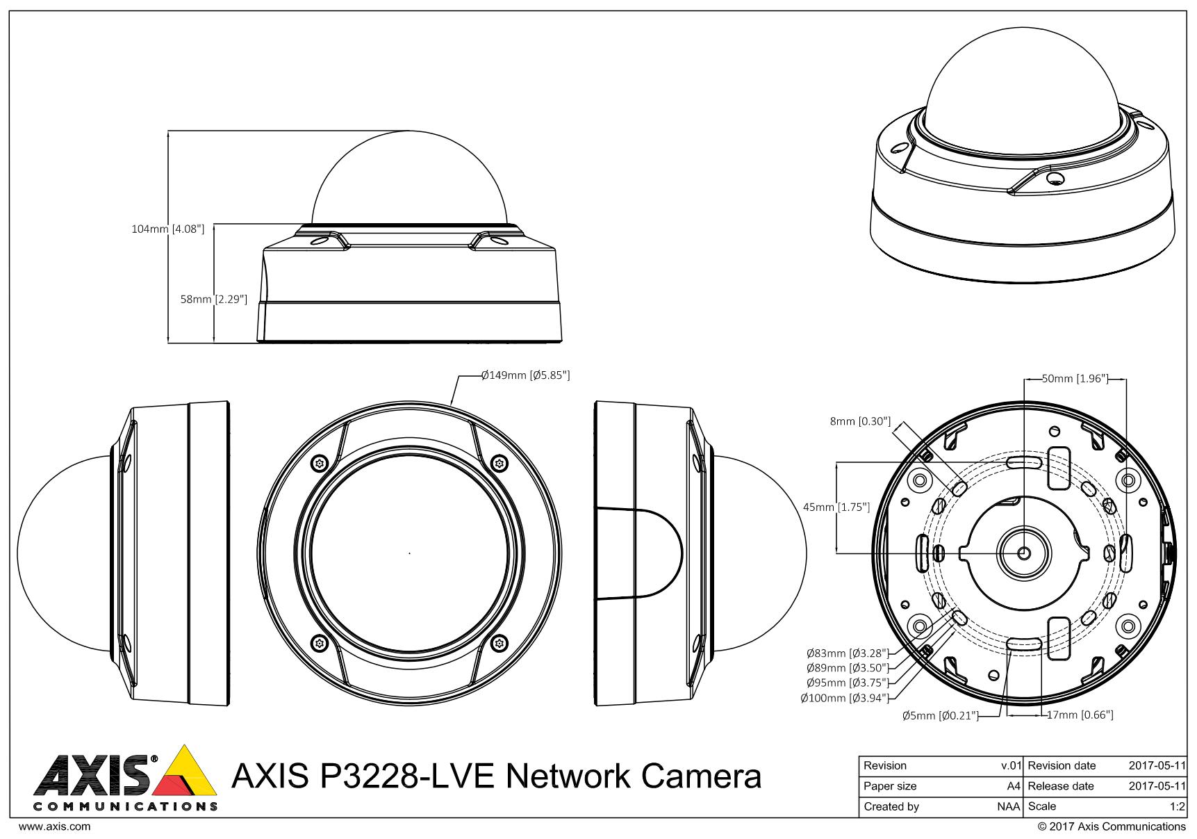 P3228-LVE Dimensions