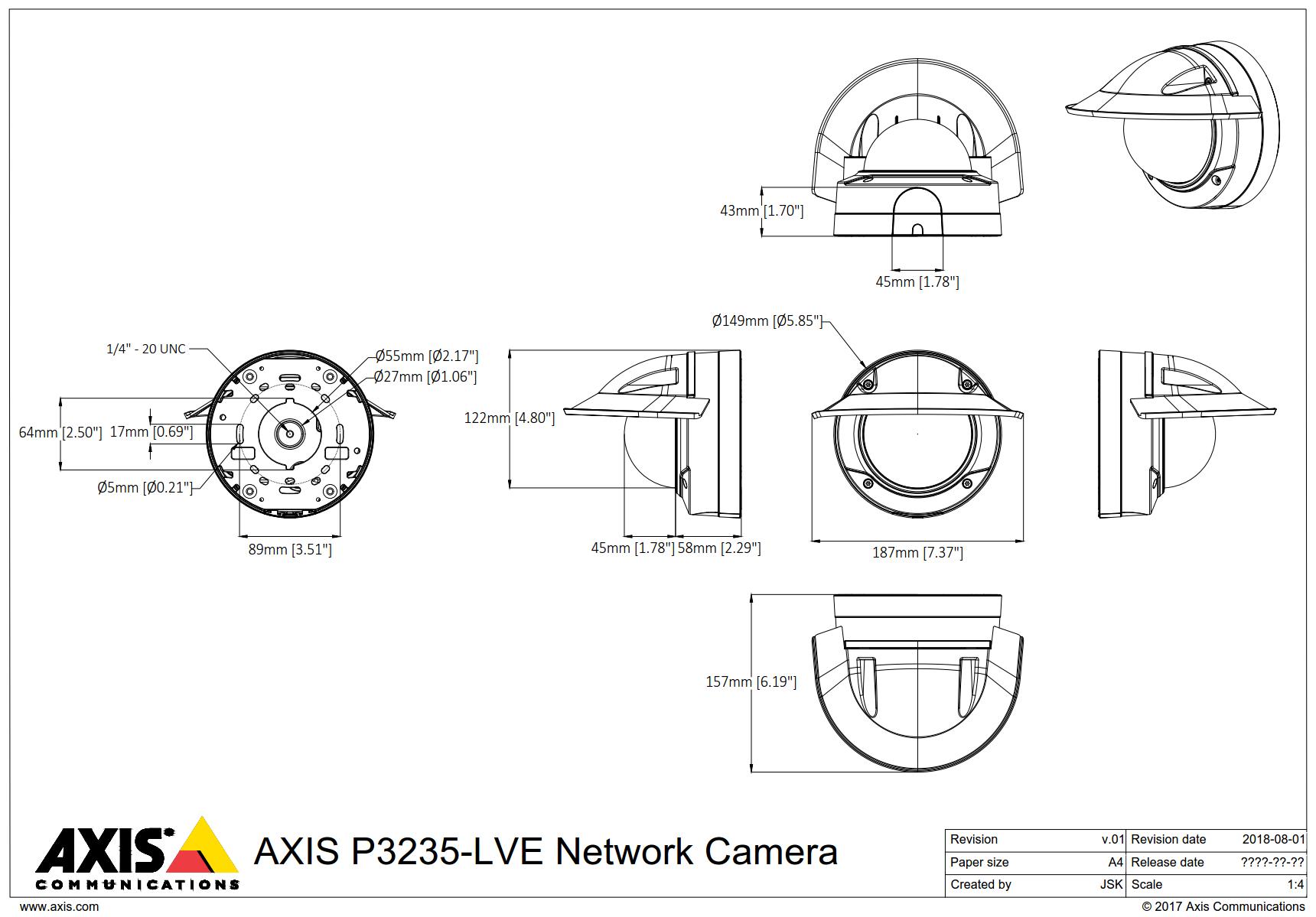 P3235-LVE Dimensions