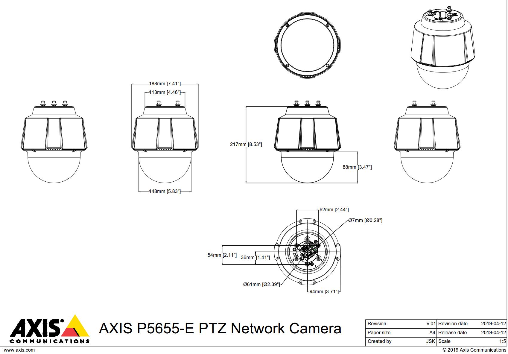 p5655-e dimensions