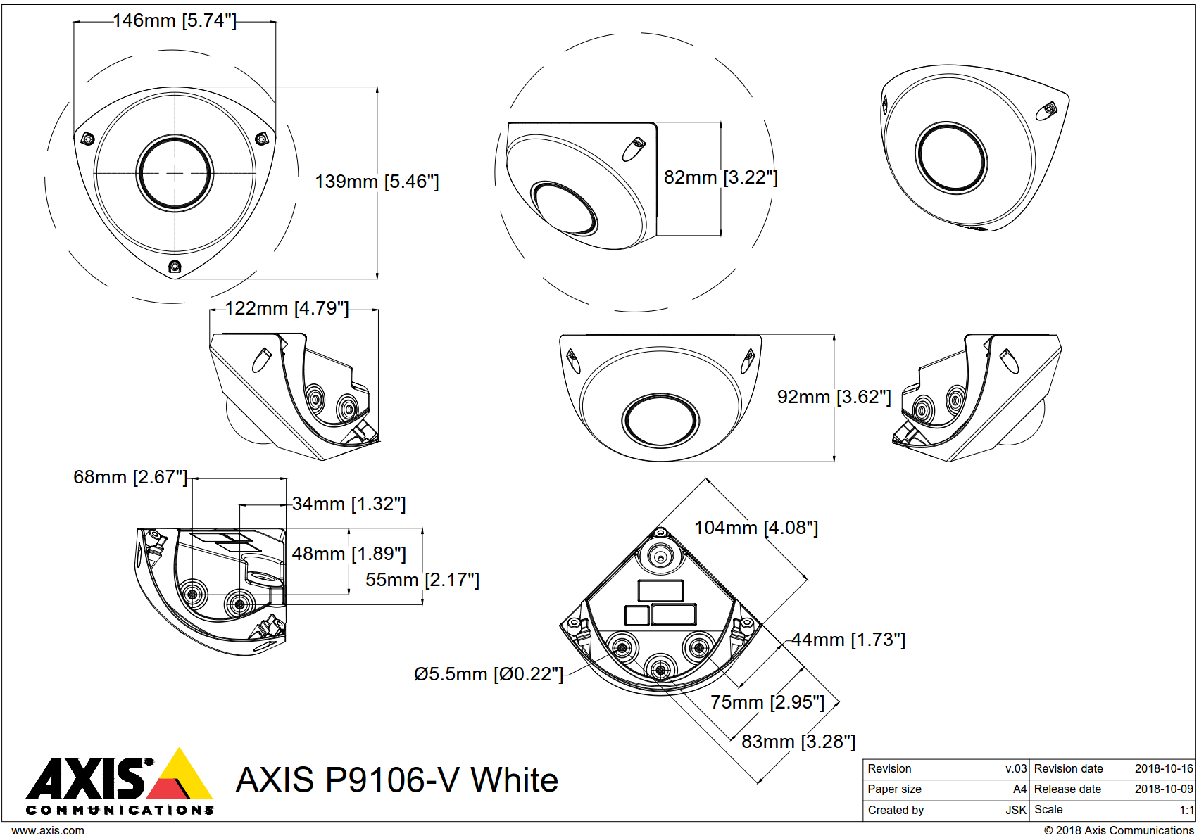 P9106-V Dimensions