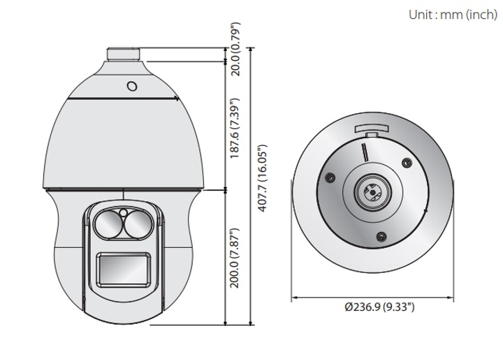 PNP-9200RH dimensions