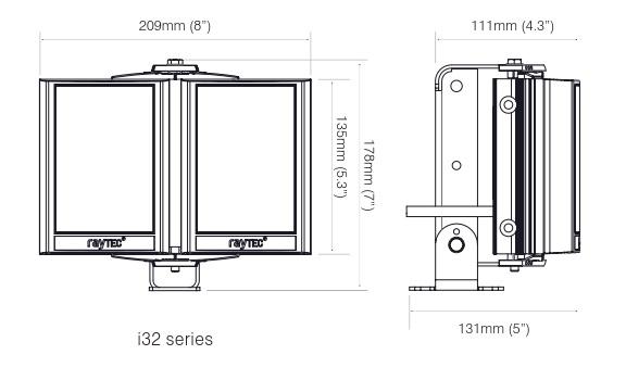 PSTR-i32-HV dimensions