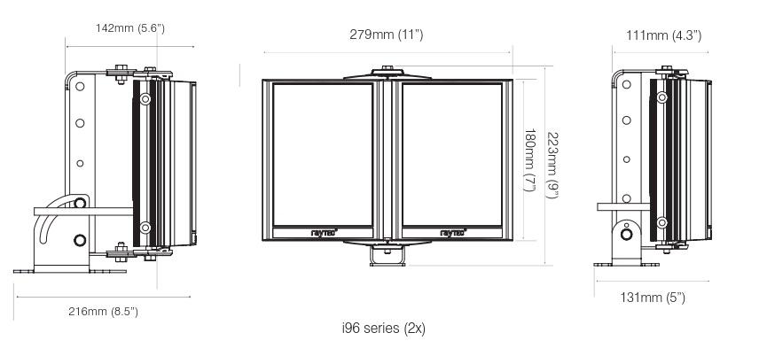 PSTR-i96-HV dimensions