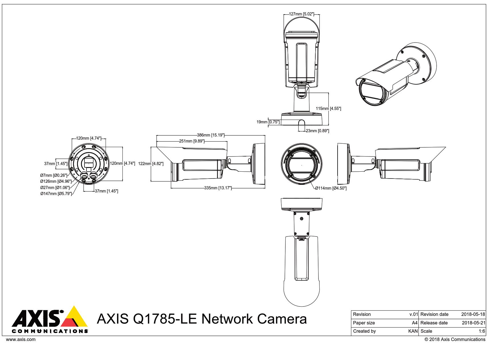 Q1785-LE Dimensions