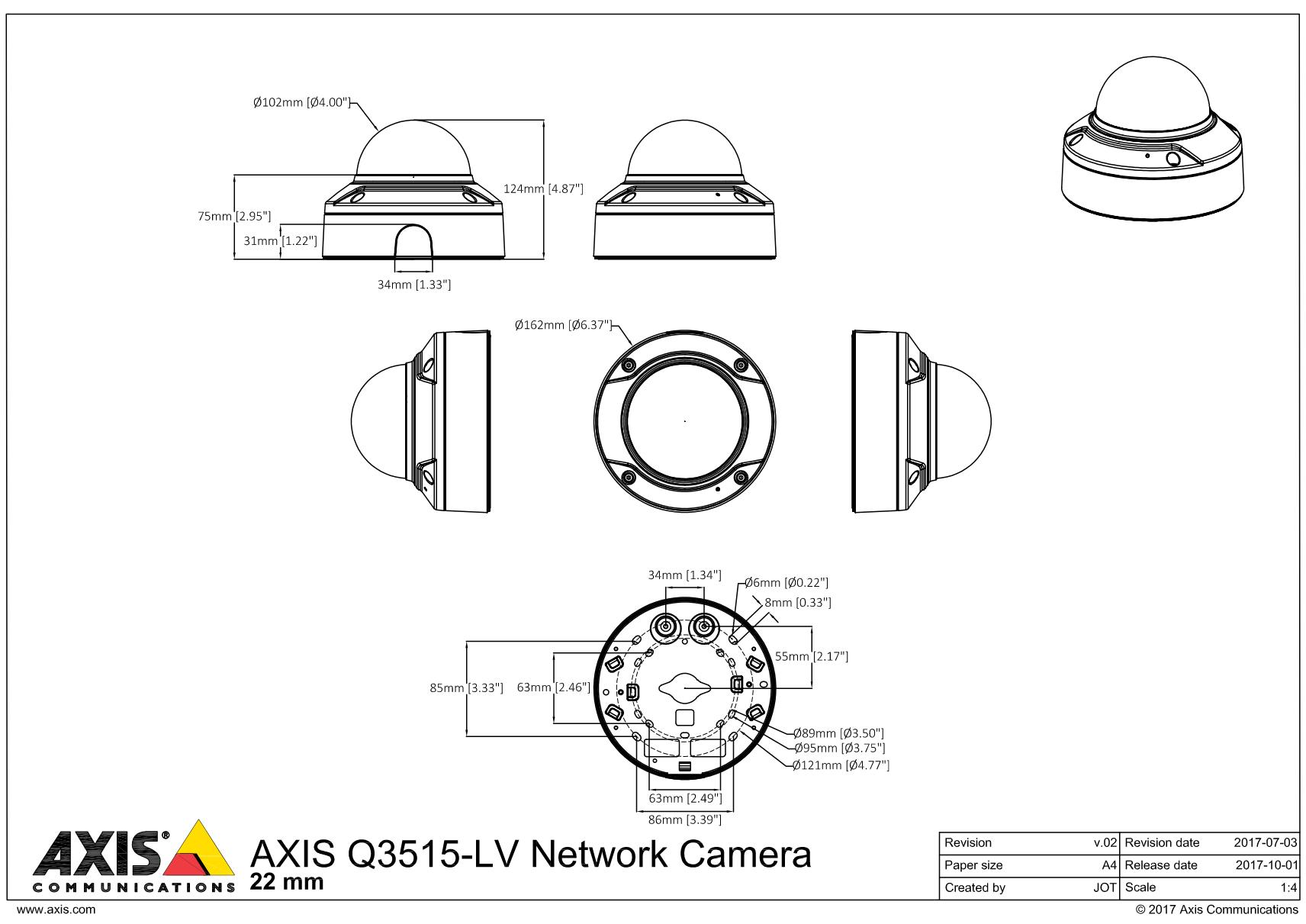 Q3515-LV Dimensions