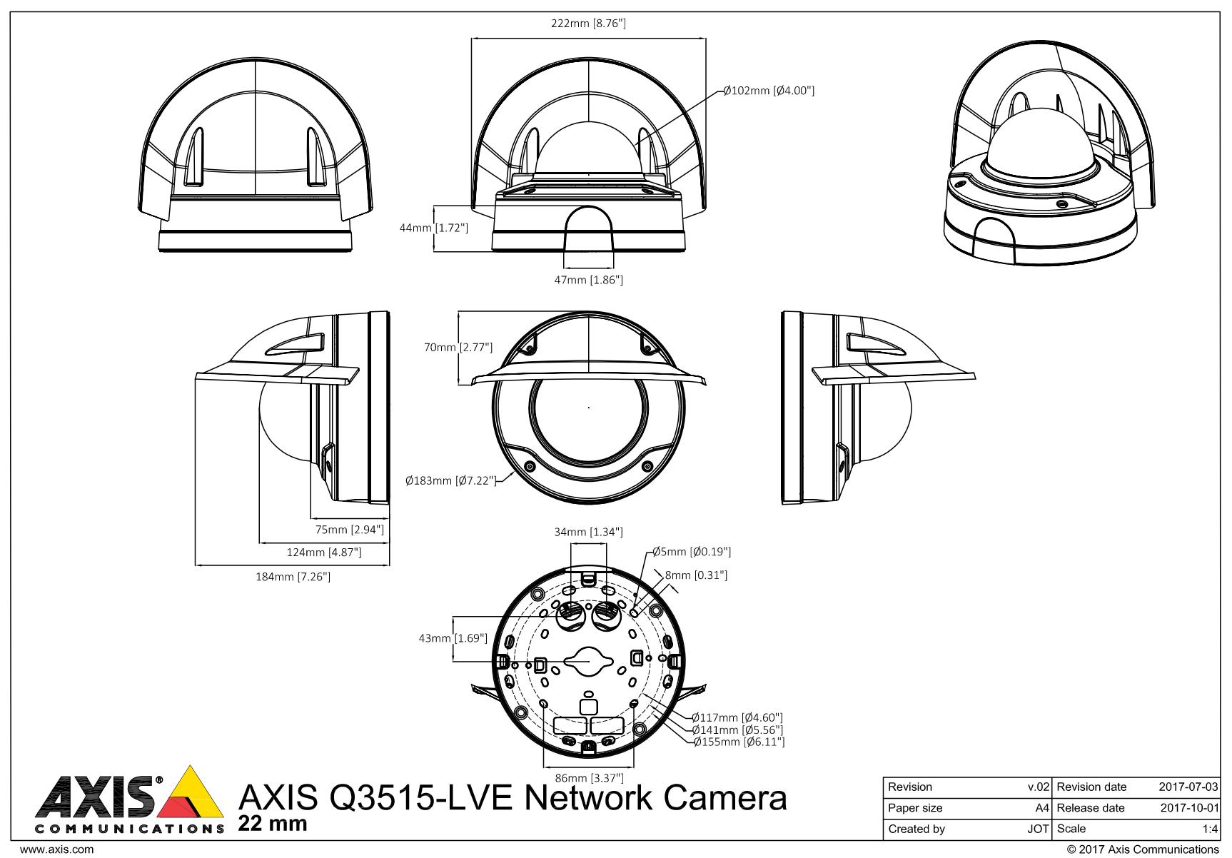 Q3515-LVE Dimensions