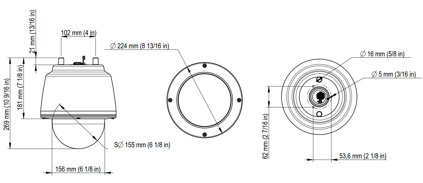 Q6055-S Dimensions
