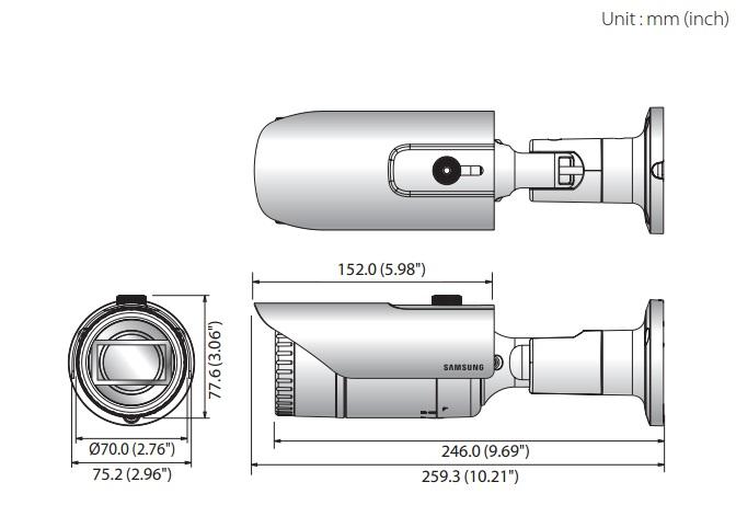 QNO-6070R dimensions