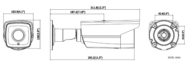 DS-2CD4B26FWD-IZS 2MP Ultra-Low Light Smart Bullet Camera