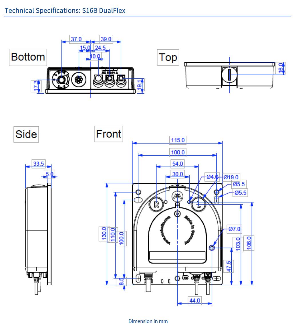 S16B Tech Specs