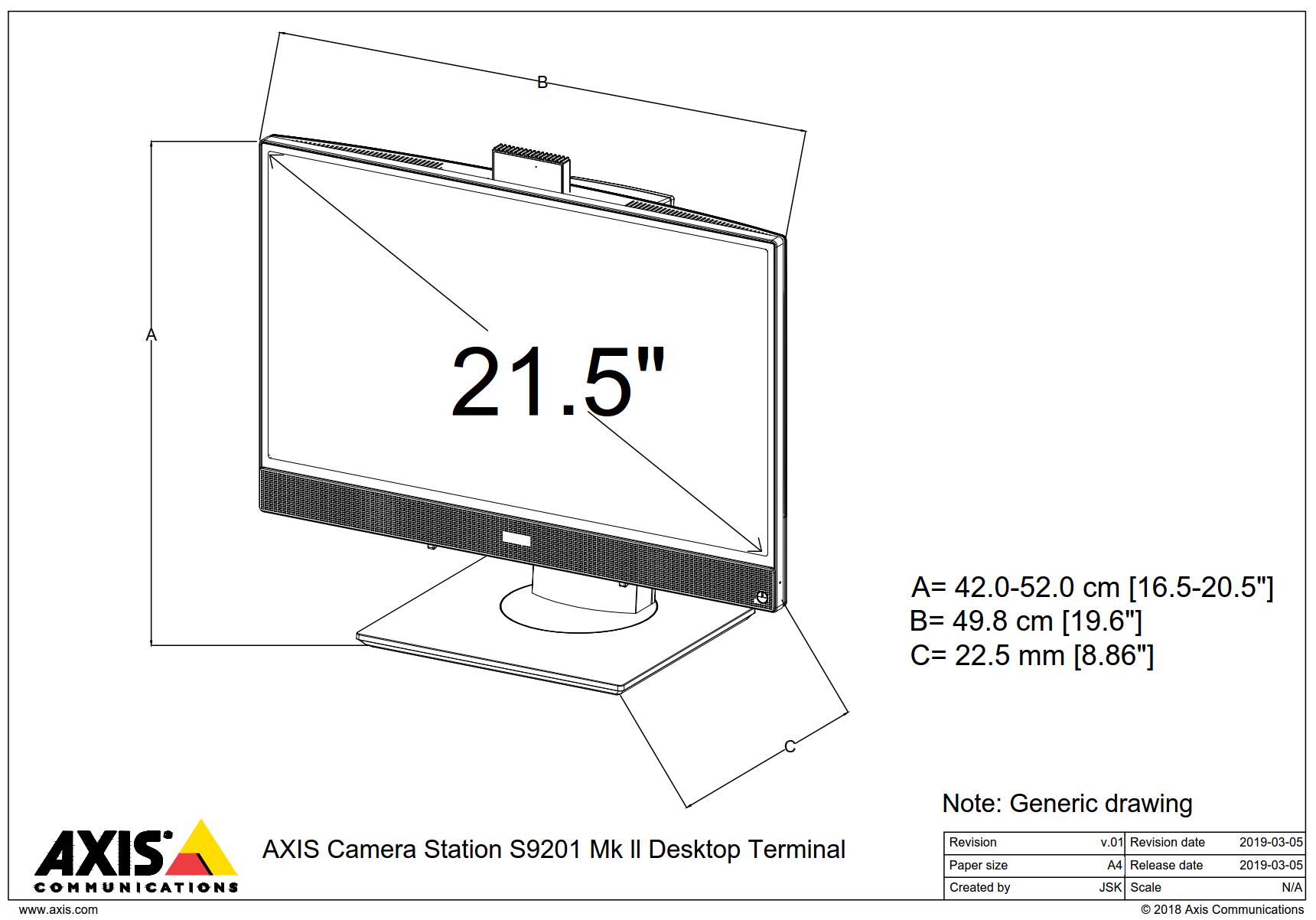 S9201 Mk II Dimensions