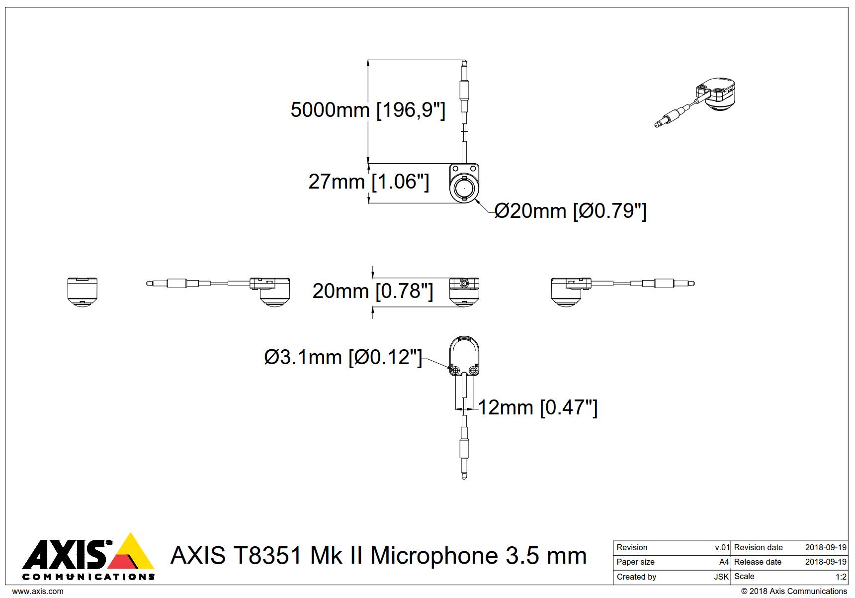 T8351 Mk II Dimensions