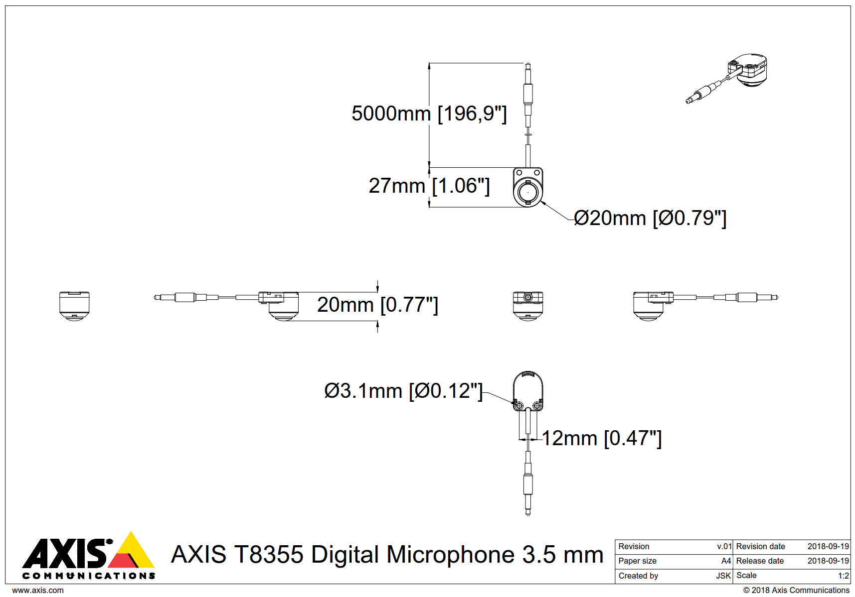T8355 Dimensions