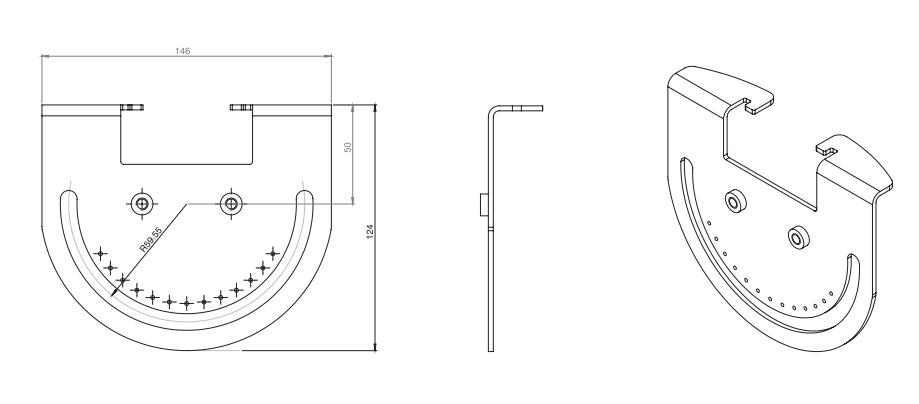rayTEC vub-plate-1x16 dimensions