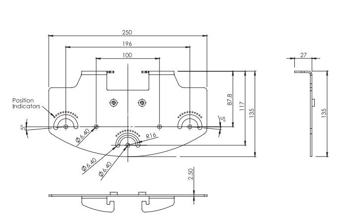 rayTEC vub-plate-3x2 dimensions