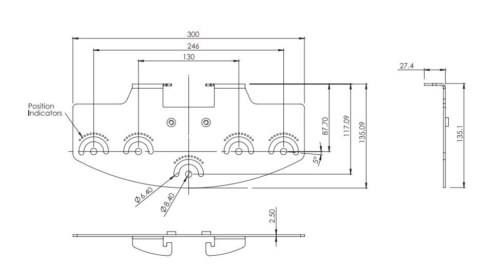 rayTEC vub-plate-3x4 dimensions