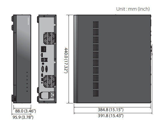 XRN-2011 dimensions