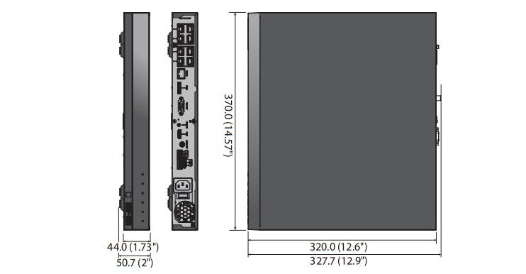 XRN-810S dimensions