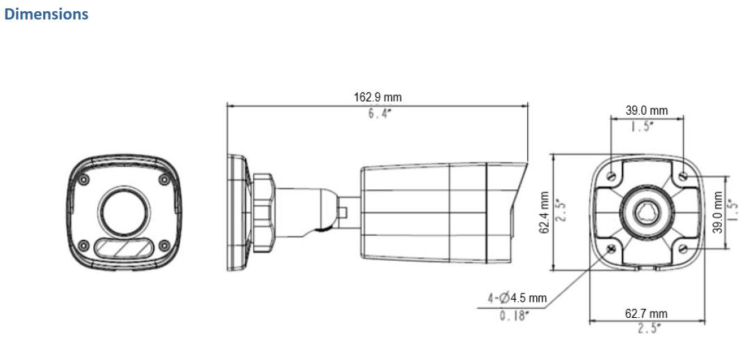 GV-ABL2703 Dimensions