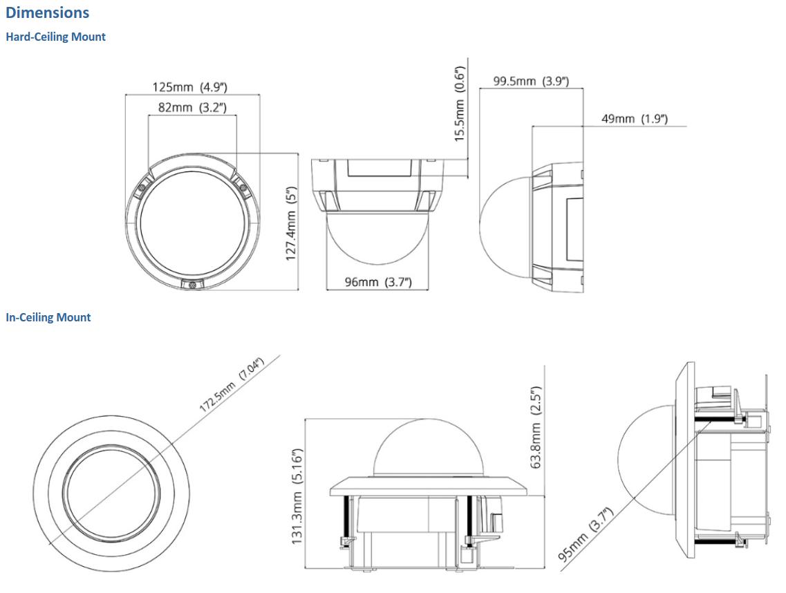 GV-FD8700-FR Dimensions