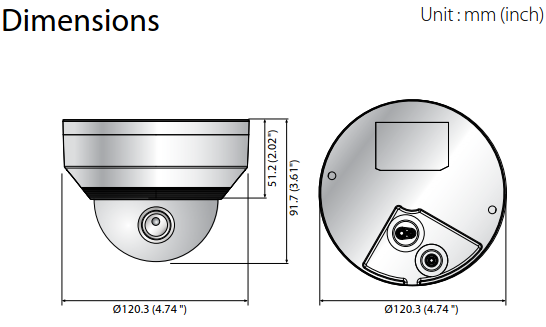 QNV-6012R Dimensions