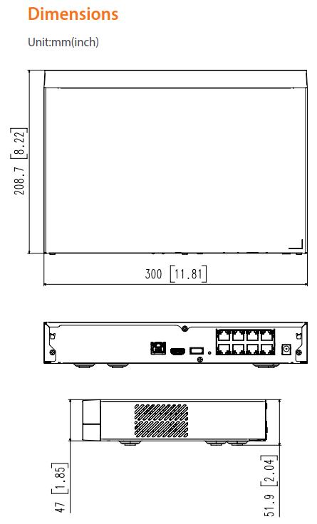 QRN-820S Dimensions