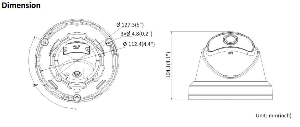 DS-2CD2345G0P-I Dimensions