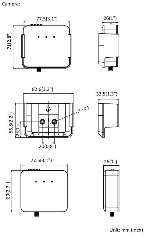 DS-2CD6425G0-I Dimensions