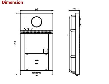 DS-KV8113-WME1 Dimensions