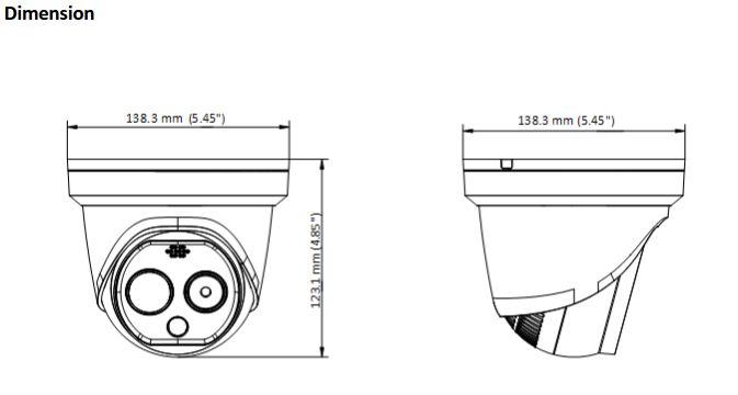 DS-2TD1217B-6/PA Dimensions