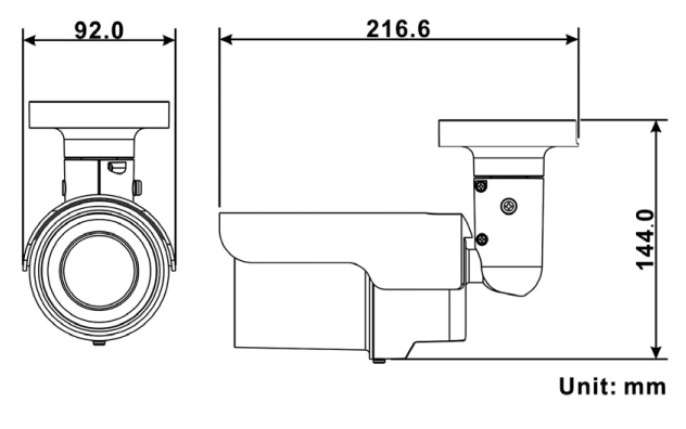 VB1A-4-IR Dimensions