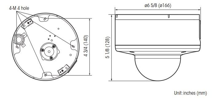 SNC-EM632RC dimensions
