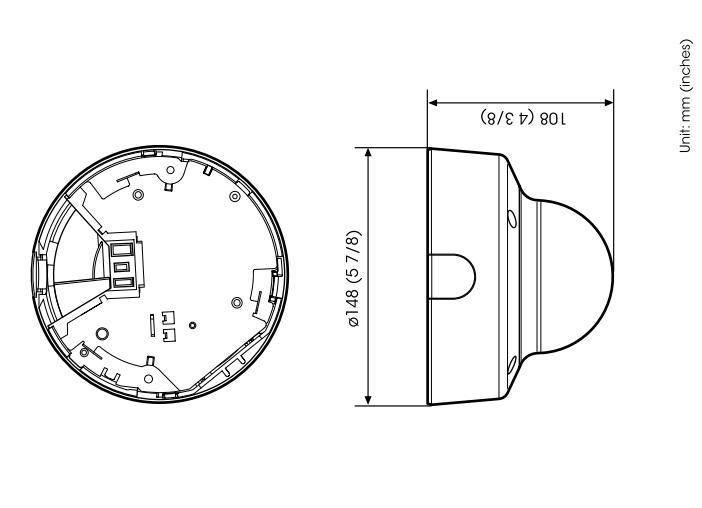 SNC-VM631 dimensions