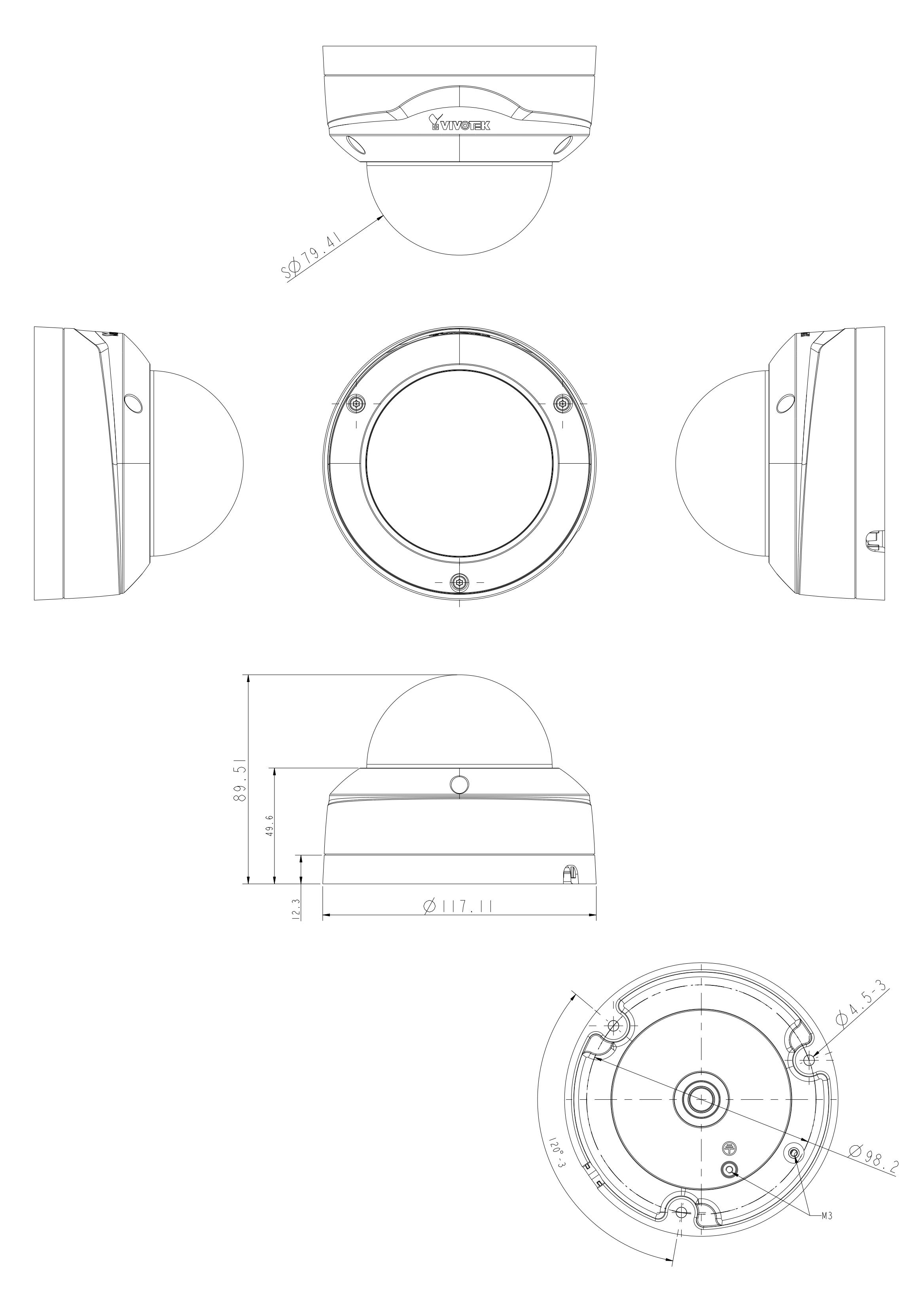 FD9380-H Dimensions