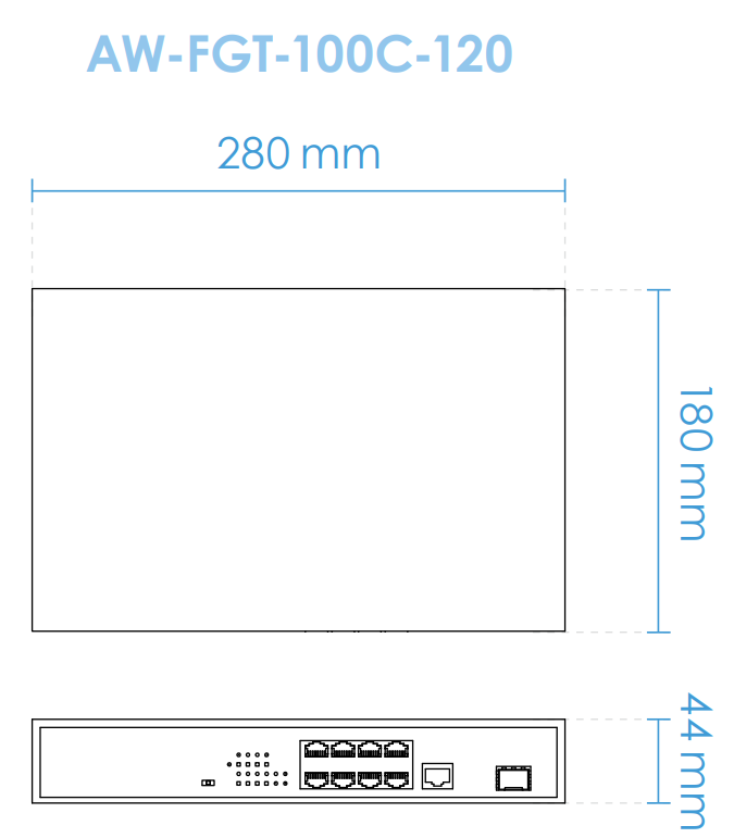 AW-FGT-100C-120 Dimensions