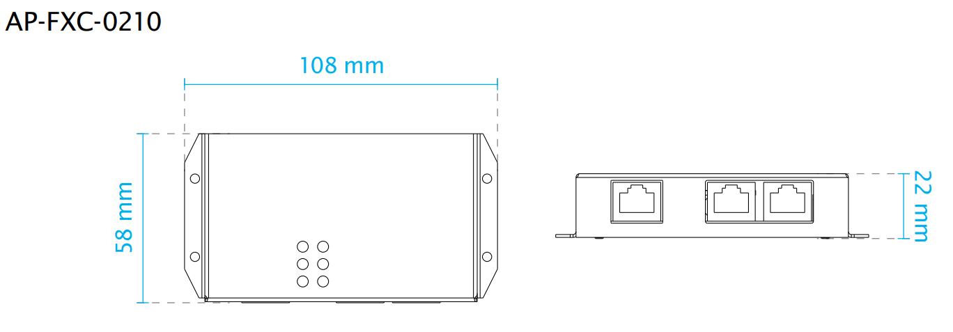 AP-FXC-0210 Dimensions