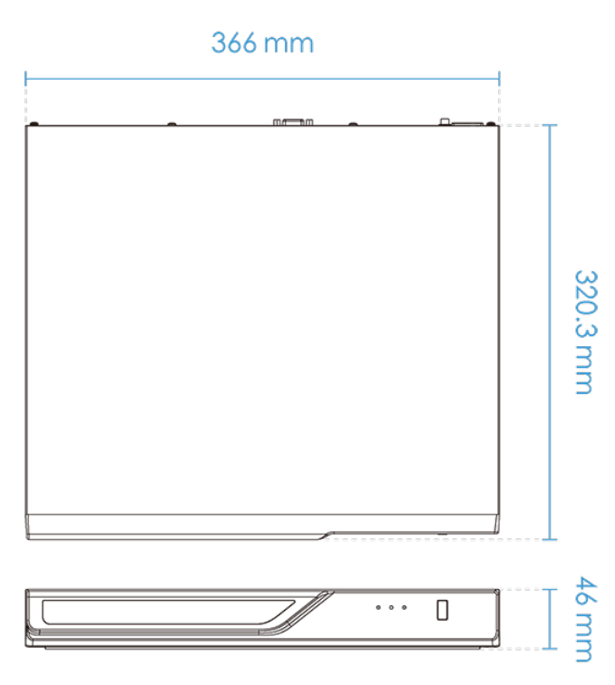 ND8322P-v2 Dimensions